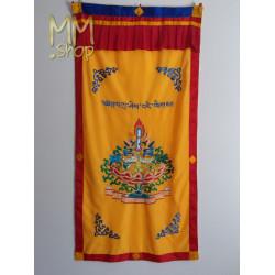 Tibetan door curtain lotusflower