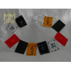 Prayer flags velvet om mani