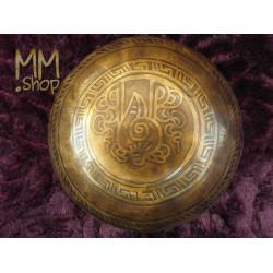 engraved singing bowl Om Mani Padme Hum 16 cm