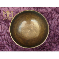 engraved singing bowl Om Mani Padme Hum 22 cm