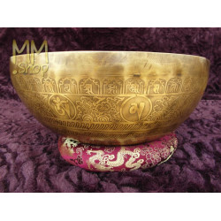 engraved singing bowl Chakra 37 cm