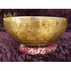engraved singing bowl Chakra 37 cm