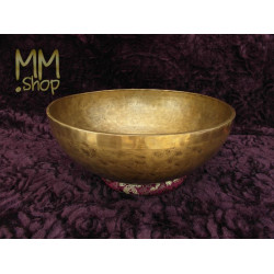 engraved singing bowl feet of Buddha 43 cm