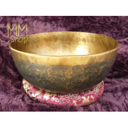 singing bowl dark plain 25 cm